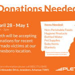 Attention: North-East Arkansas Residents – Pleth Collecting Donations for Storm Victims